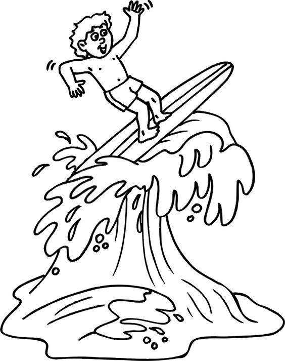 Surf para colorear