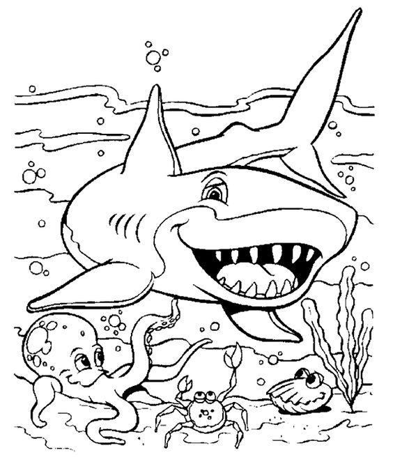 Tiburón para colorear