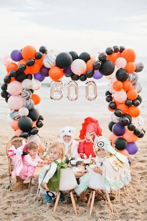Celebrar halloween en la playa con niños