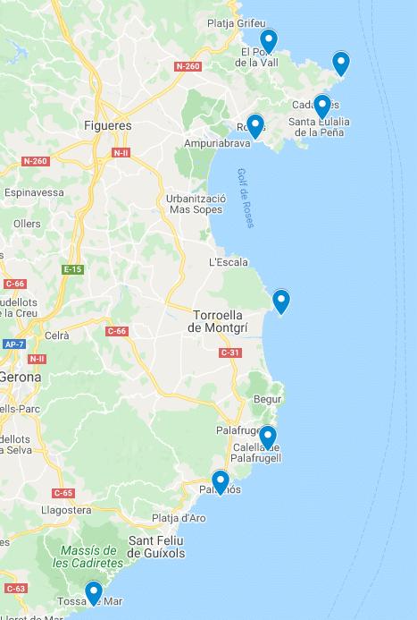 Los faros de Cataluña